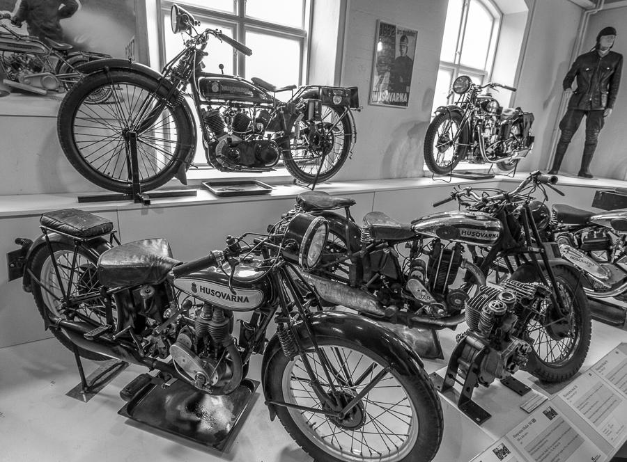 Motorräder  im Huskvarnamuseum